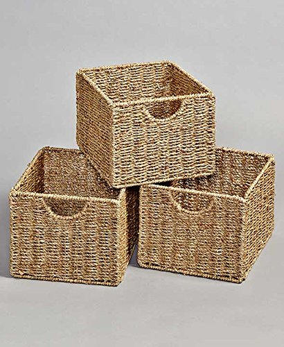 (The Lakeside Collection Set of 3 Seagrass Storage Baskets)
