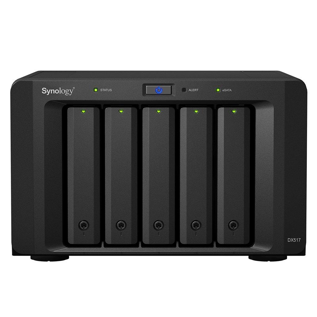 Synology DX517 Unidad de Disco Multiple 50 TB Escritorio Negro - Unidad de Disco múltiple (Unidad de Disco Duro, 50 TB, Unidad de Disco Duro, SSD, 50 TB, SATA, 10000 GB)