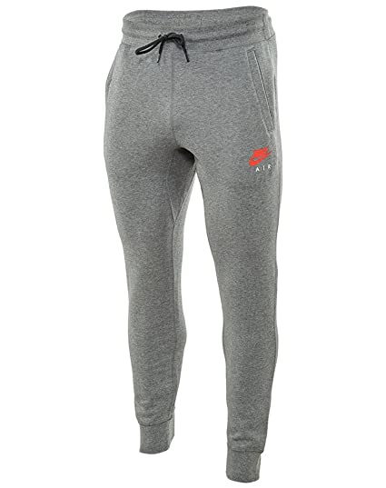 Men's Nike Air NSW Fleece Joggers (809060-091) - CARBON HEATHER/BRIGHT