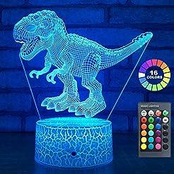 easuntec Dinosaur Toys 3D Night Light wi...