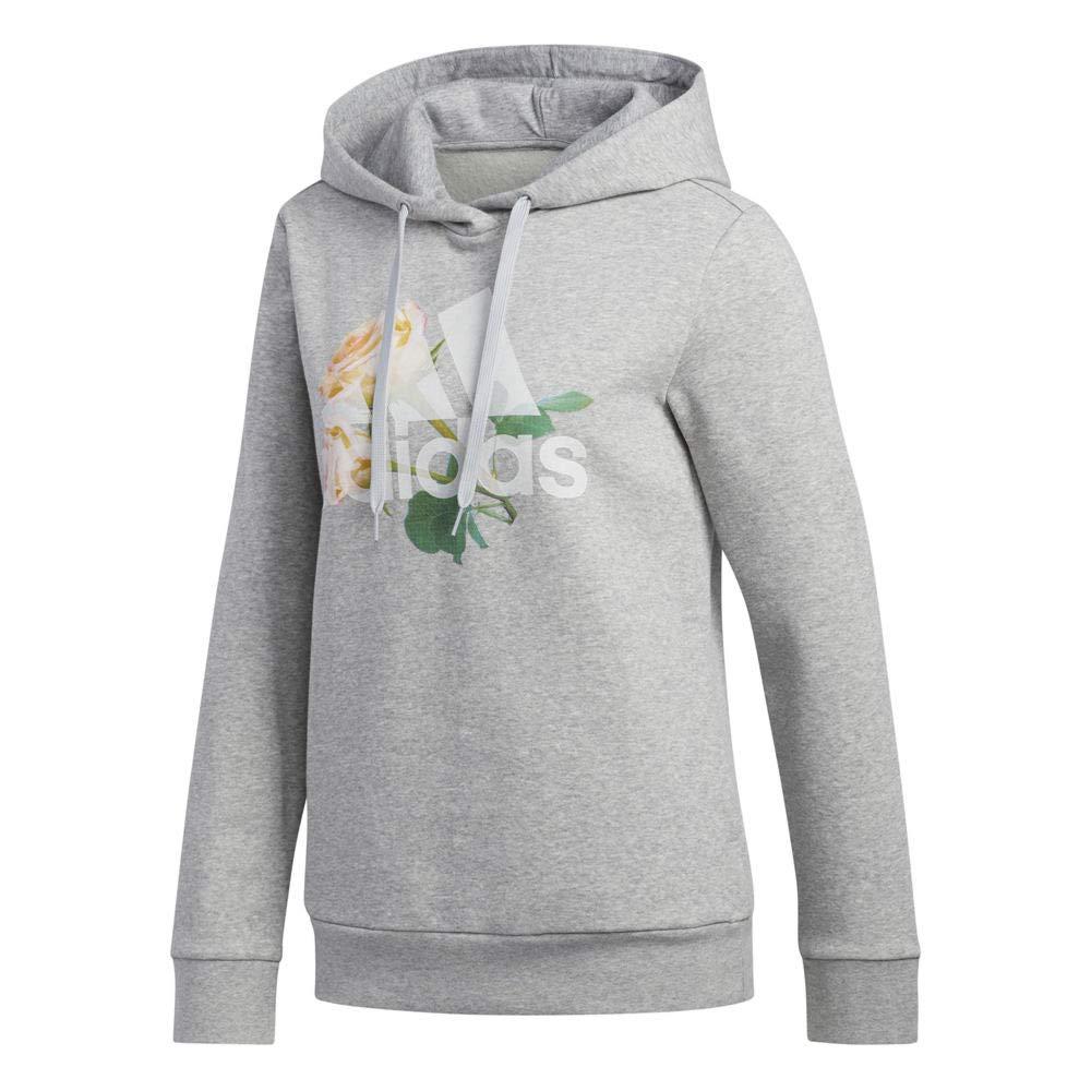 adidas Women's Floral Bc Hooded Sweatshirt