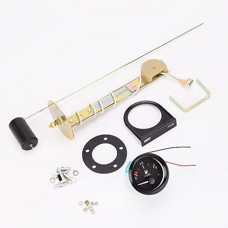 2inch Universel 52 mm de Niveau de Carburant Jauge Compteur capteur de Carburant E-1//2-F pointeur de Camion de Voiture Bateau Haute sensibilit/é