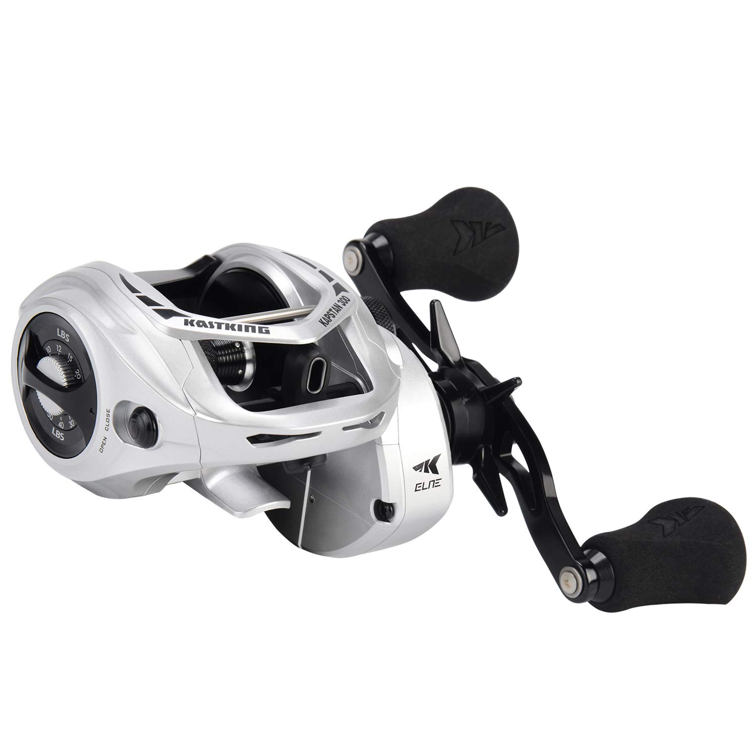 KastKing Kapstan Elite Size 300 Baitcasting Fishing Reel, Low Profile Baitcasters, Large Capacity Casting Reel, 35 lbs. Drag, 5.4 1 Ratio, 8 1 Stainless Steel Ball Bearings, Centrifugal Brakes.
