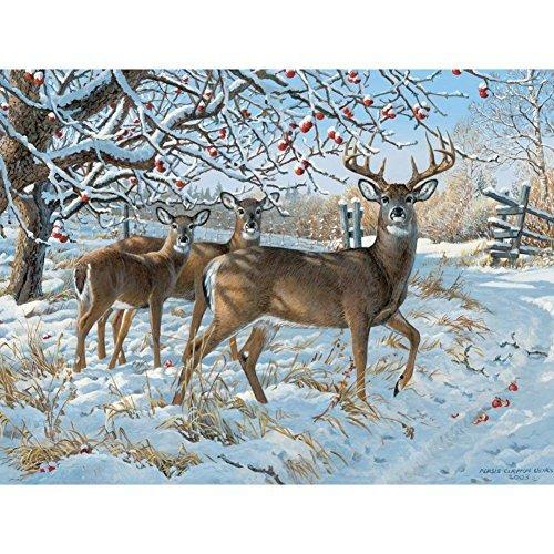 Cobble Hill Winter Deer 500 Piece Jigsaw Puzzle (500 Piece Deer Puzzle)