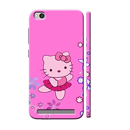 quite nice 5ace3 b0cad Clapcart Redmi 5A Designer Printed Back Cover for Xiaomi Redmi 5A / MI  Redmi 5A - Pink Color (Kitty Design for Girls)