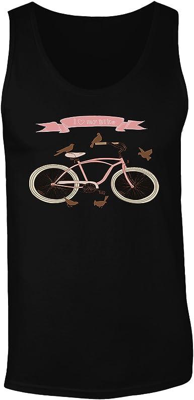 Amo Mi Bicicleta De La Bici la parte superior del tanque hombres ...