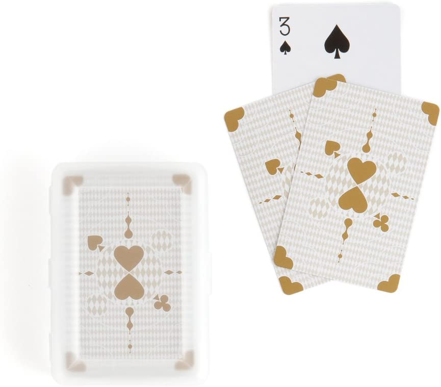 36PC 9092WS Classic Metallic Gold Playing Cards in Plastic Case Wedding Baby Sho