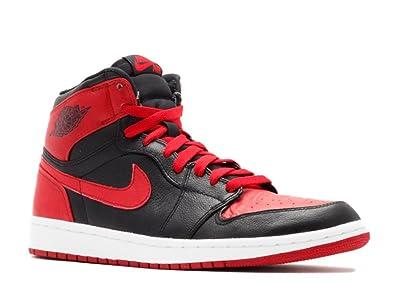 7986f782cdb8e Amazon.com | Nike Mens Air Jordan 1 Retro High Banned Black/Red ...