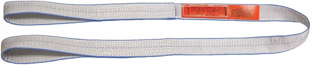 Flat Eye and Eye Number of Plies: 1 Type 3 Web Sling Tuff-Edge Polyester 6 ft 3 W