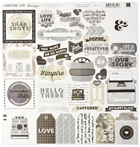 any CLBW65016 Captured Life Black and White Collection Kit for Scrapbooking ()