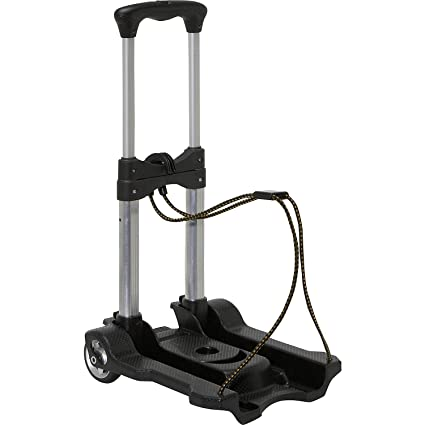 CBEX Foldable Collapsible Trolley Folding Cart On Wheels with Extendable Handle Adjusted Luggage Shopping Cart Trolley Assorted