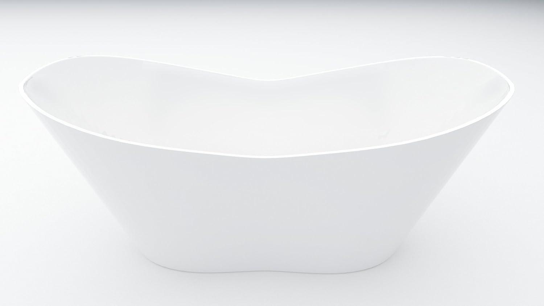 EXCLUSIVE LINE® Freistehende Badewanne VIYA 160x70 cm Ovale ... | {Freistehende badewanne mineralguss 64}