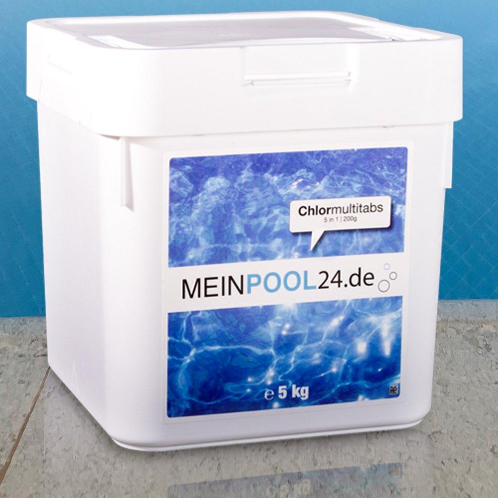 5 kg MEINPOOL24.DE CHLORMULTITABS CHLOR MULTITABS 5 IN 1, 200 g TABS POOLCHEMIE