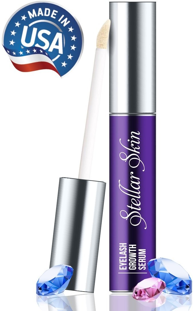 Eyelash Growth Serum Lash Boost - Natural Ingredients Strengthen & Enhance Your Brows & Lashes, Advanced Apple Stem Cell Technology is Best Enhancer to Grow Fuller, Longer Eyelashes. Made in the USA.
