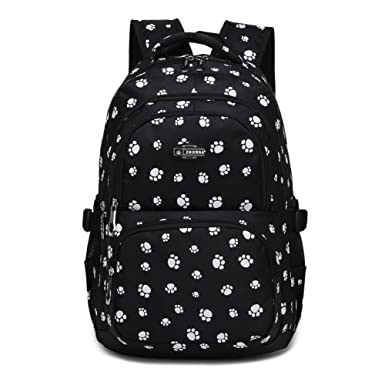 Amazoncom Dog Pawprint Cat Fingerprint Backpack For Elementary Or