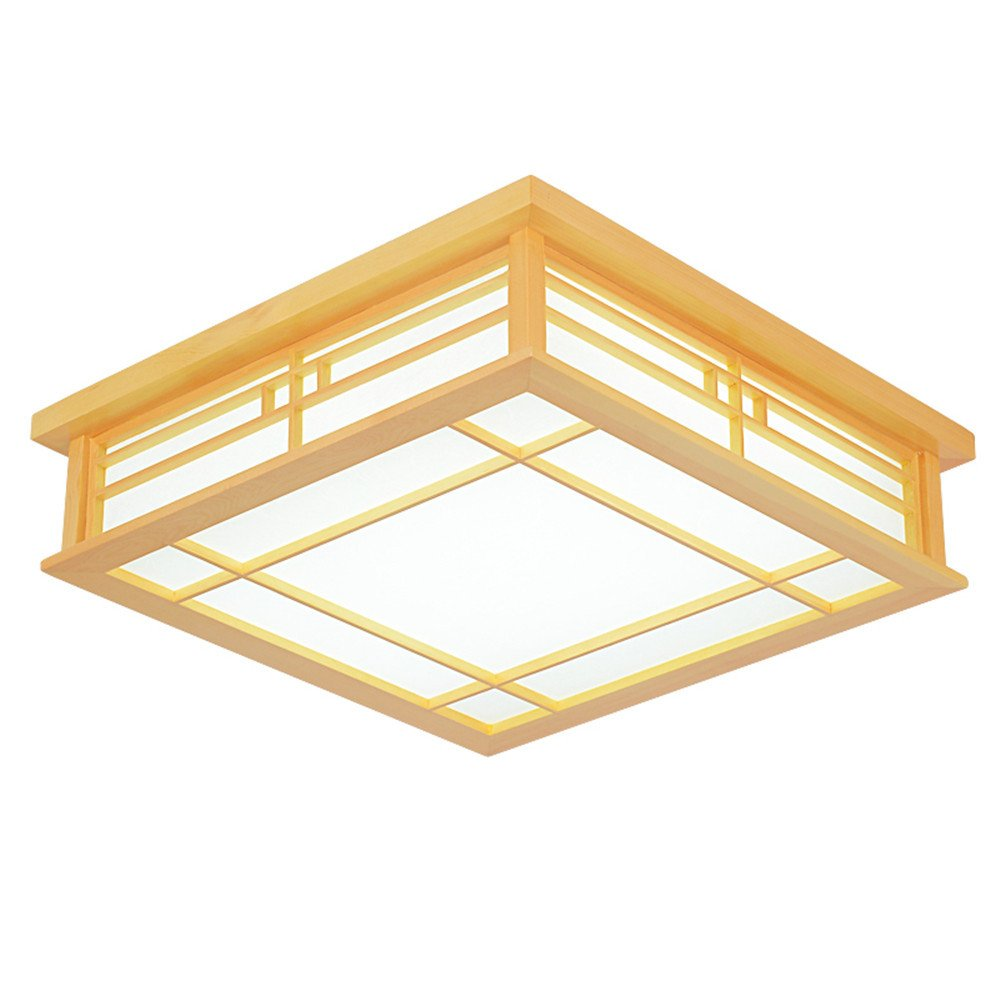 Leihongthebox ceiling lights lamp japanese ceiling light led solid wood lamps light japanese tatami ceiling light wooden light wood lamps korean tri color
