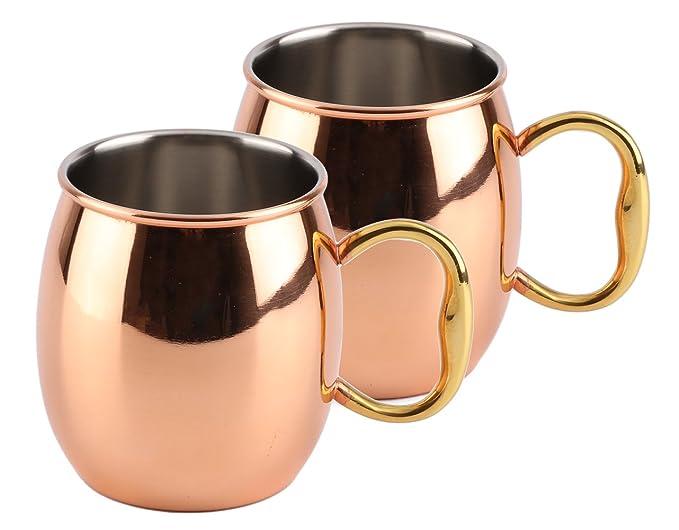 Amazon.com: Estilo Handcrafted Moscow Mule tazas de cobre ...
