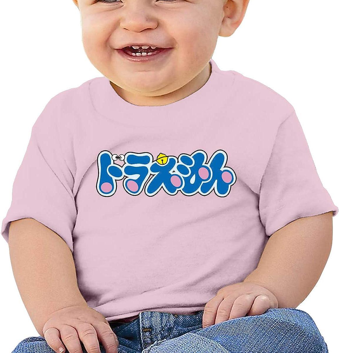 EVE JOHN Doraemon Logo Tee Breathable T-Shirts for Infant Black