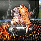 Stainless Steel Upright Chicken Holder Chicken Roaster Rack Non-Stick BBQ Baking Pan Grilled Rack for Outdoor Camping