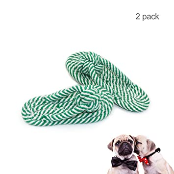 Snake M Dog Chew Toy Puppies Tooth Cleaning Cotton Rope With Handle