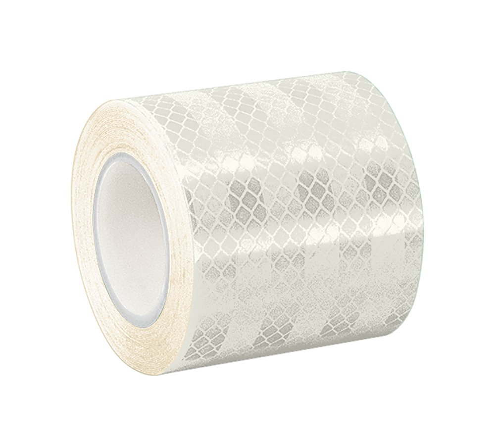 TapeCase 1.5-5-3430 White Micro Prismatic Sheeting Reflective Tape Converted from 3M 3430, 1.5' x 5 yd. 1.5 x 5 yd.