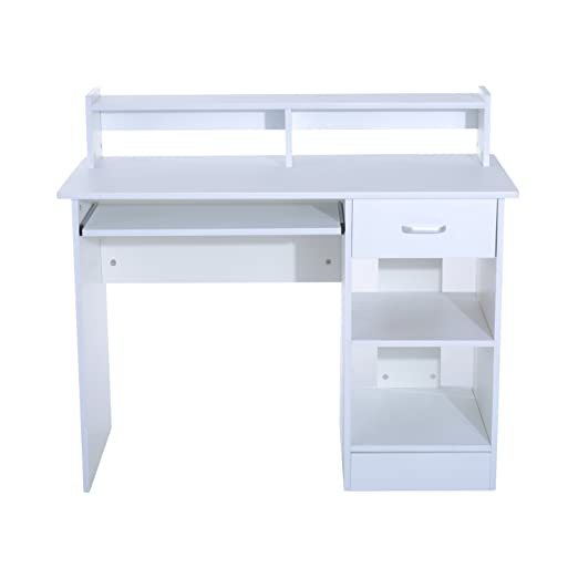 HOMCOM Mesa de Ordenador PC 106x50x93.5cm Escritorio para Oficina ...