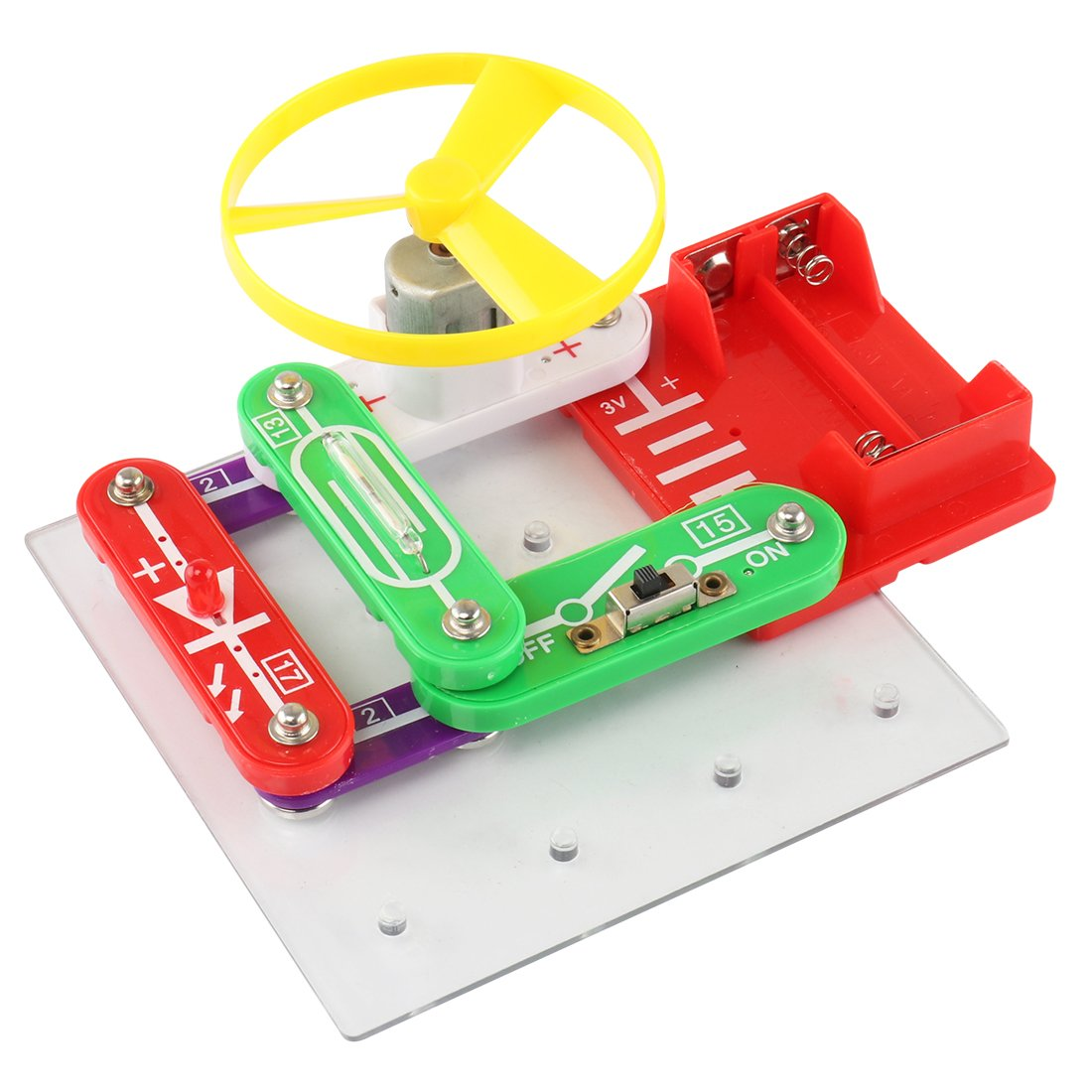 Basic Electronics Discovery Circuit Kit Fcoson Snap Circuits Snaptricity Build 75 Projects Boards Educational Science Toy For Kids 5 And Up Toys Games