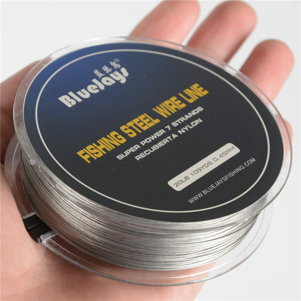 100 Meter 0.35mm Fishing stee Wire Nylon Coated 1x7 Stainless Steel Leader Wire