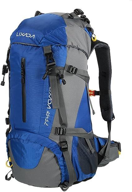 Lixada Mochila de Senderismo 50L/60L/70L Gran Capacidad Mochila de Marcha Trekking Camping Deporte al Aire Libre