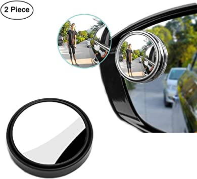 1X 360° Adjustable Car Rearview Blind Spot Mirror Side Mirror Convex Wide Angle