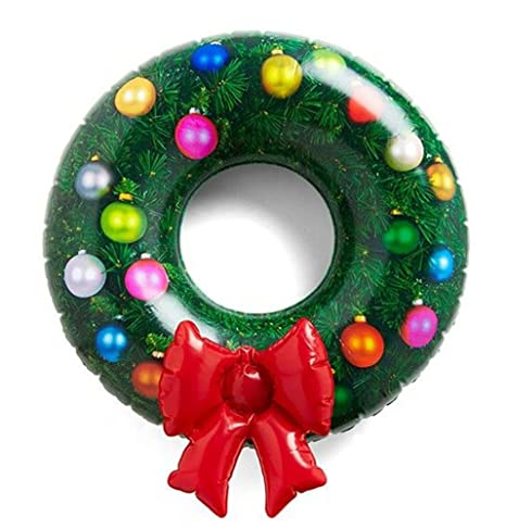 Christmas Themed Pool Floats.Dci Inflatable Wreath