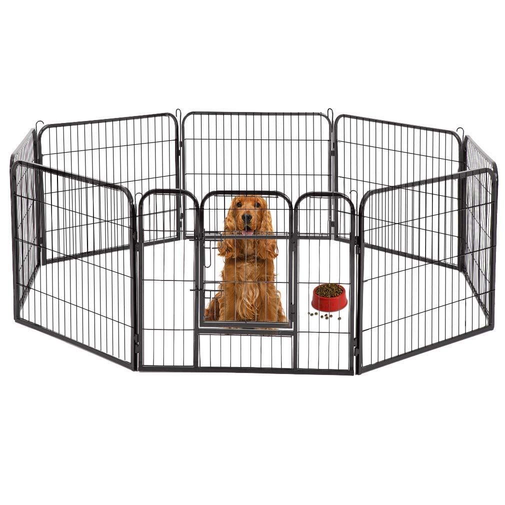BestPet Hammertone Finish 32'' Heavy Duty Pet Playpen Dog Exercise Pen Cat Fence S (Renewed)