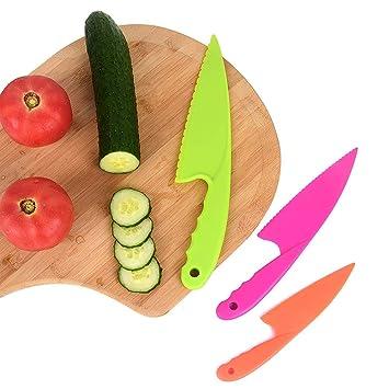 Forepin Cuchillo de Cocina para Niños Cuchillos de cocina ...