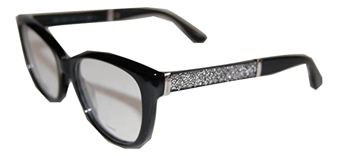 87e1384ef62 Image Unavailable. Image not available for. Color  JIMMY CHOO JC 179 FA3  BLACK GLITTER EYEGLASSES