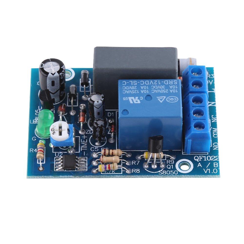 Módulo de Relé de Temporizador Retardo Ajustable Interruptor de Apagado de Relé de Tiempo Retardo 10A 250V AC / 10A 30V DC (0 ~ 10Segundos) Walfront
