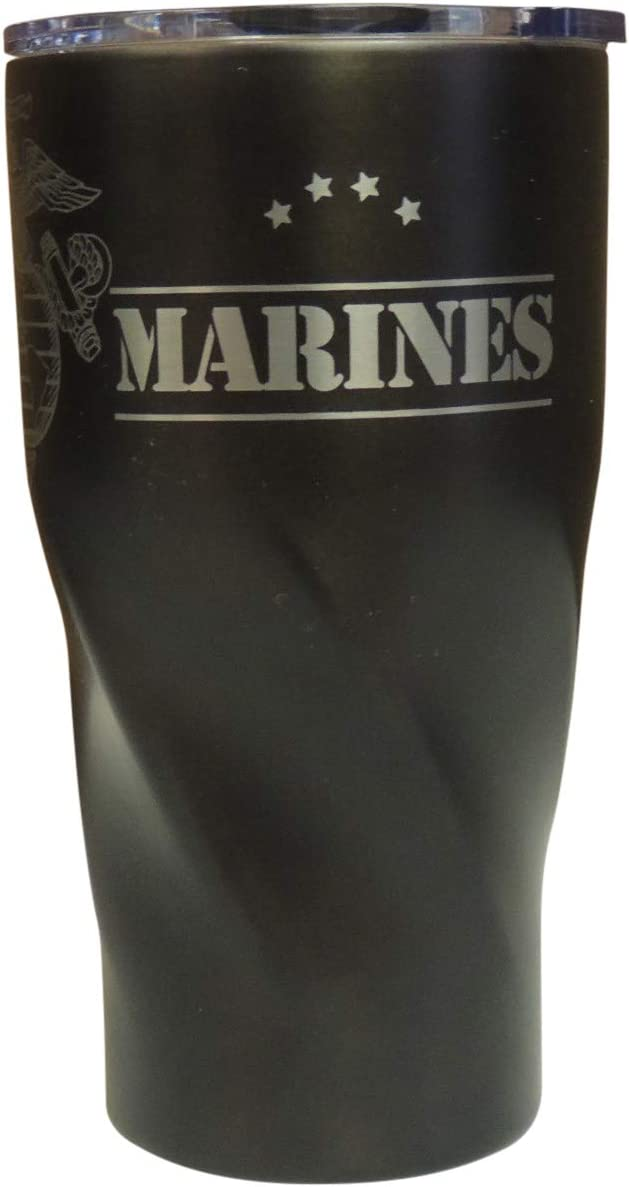 Marine Corp Vacuum Insulated Tumbler 20 Oz - BPA Free Stainless-Steel Vacuum Mug For Travelling Sports Outdoor & Gym (Black)