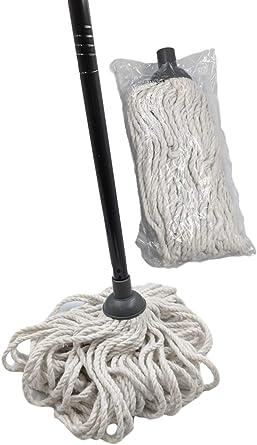 Fregona de algodón de alta calidad con cabezal de fregona de ...