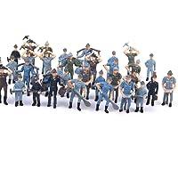 Jinzhicheng ca. 50pz scala 1: 42Painted Model miniature Train lavoratori figure di persone