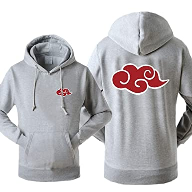 WEEKEND SHOP Hoodie Anime Naruto Akatsuki Hoodie for Men Sweatshirt Tracksuits Hoodies Gray