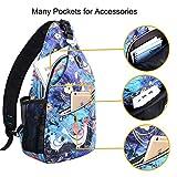 MOSISO Sling Backpack Polyester Crossbody Shoulder Bag for...
