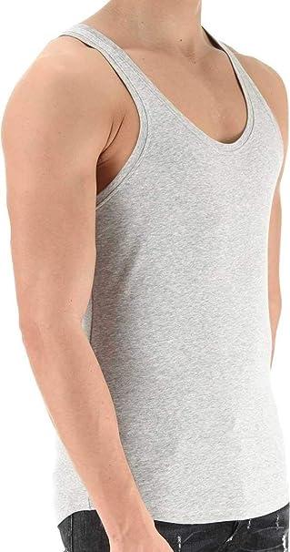 0a413df115ff Dsquared² Classic Knit Canottiera Rib Cotton Stretch, Colore: Grigio,  Taglia: S: Amazon.it: Abbigliamento