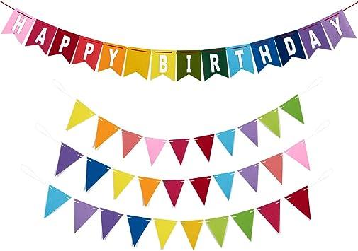 Amazon.com: Feliz cumpleaños Banners – 4 piezas – incluye 1 ...