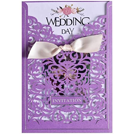 Jxs Wedding Elegante Kit De Tarjetas De Invitación Corte De