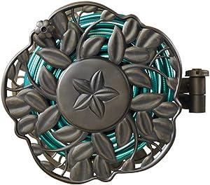 AMES 2397200 NeverLeak Decorative Swivel Reel 100-Foot Hose Capacity
