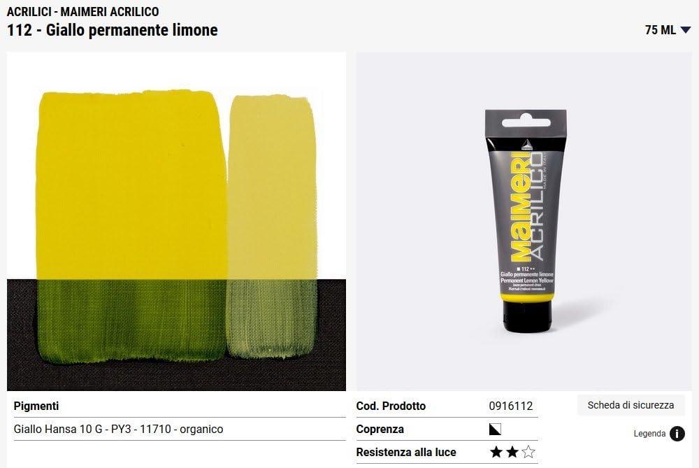 Acrilico Maimeri Artists pintura acrílica 75 ml permanente ...