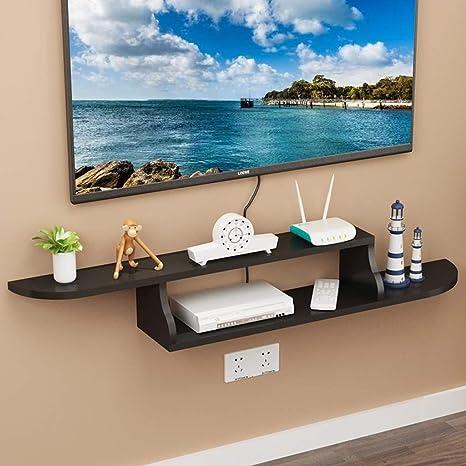 YYHSND Repisa Flotante de TV Estante for televisor decodificador TV Consola de la Sala Dormitorio TV decoración de la Pared decoración de Muebles Estante de Montaje en Pared (Color : C): Amazon.es: