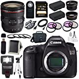 Canon EOS 5DS 5D S DSLR Camera + EF 24-70mm f/4L IS USM Lens + LPE-6 Lithium Ion Battery + Canon 100ES EOS shoulder bag Bundle 10