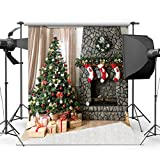 SJOLOON 10x10ft Christmas Photography Backdrops Brick wall Gift Box Red Sock For Children Christmas Studio Backgrounds JLT10295