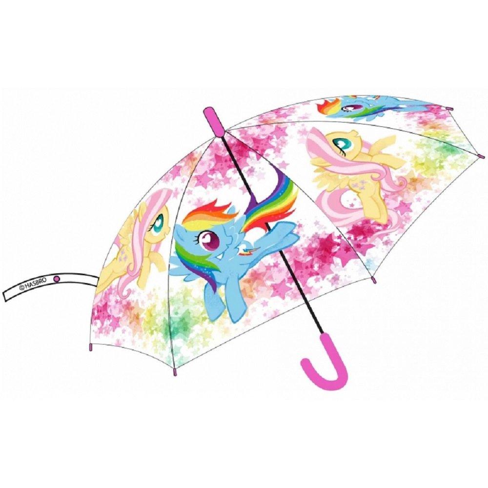 My Little Pony Ombrello Trasparente Automatico 43 cm Parapioggia Bambina Mini Pony Eplusm