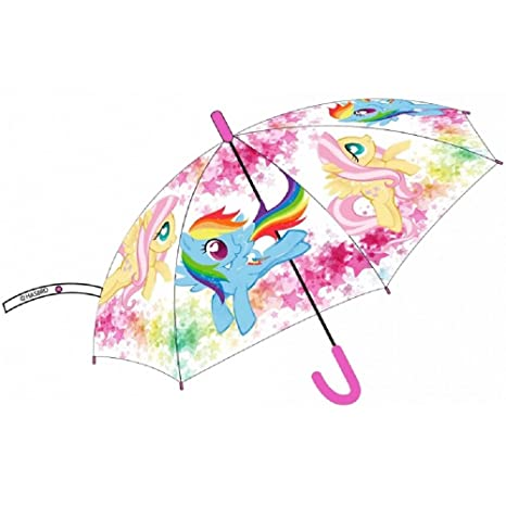 My Little Pony paraguas transparente automático 43 cm cubierta impermeable niña Mini Pony